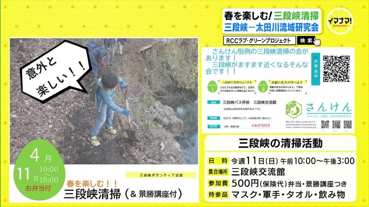 春を楽しむ!三段峡清掃   三段峡ー太田川流域研究会