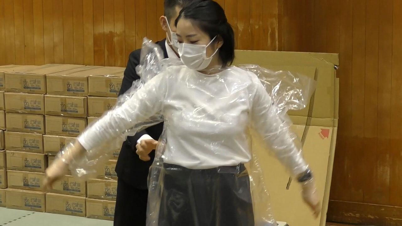 ポリ 袋 防護 服