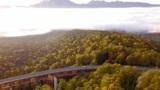 雲海と紅葉、絶景の競演 大雪山国立公園の三国峠